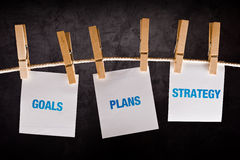Goals, Plans and Strategy, business concept Royalty Free Stock Photography