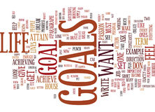 Goals The Power Line To Success And Achievement Word Cloud Concept. Goals The Power Line To Success And Achievement Text Background Word Cloud Concept Royalty Free Stock Images