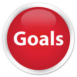 Goals premium red round button. Goals isolated on premium red round button abstract illustration Stock Photos