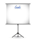 Goals presentation board illustration design. Over a white background Stock Photos