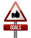 Goals road sign illustration design Stock Images