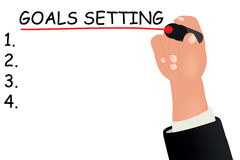 Goals setting concept Stock Images