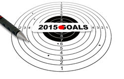 2015 goals. Shooting target with word 2015 goals made in 2d software vector illustration