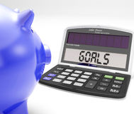 Goals Shows Aims Aspiration Motivation And Inspiration Stock Images
