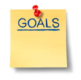 Goals strategy planning office note isolated Stock Photo