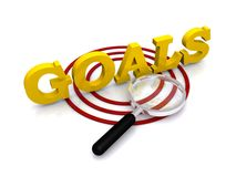 Goals and target sign Stock Photos