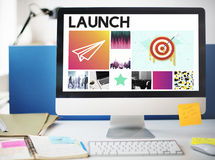 Goals Target Startup Launch Success Brand Concept Royalty Free Stock Photos
