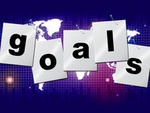 Goals Targets Indicates Aspirations Objectives And Forecast. Goals Targets Meaning Projection Mission And Aspiration Royalty Free Stock Image