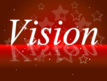 Goals Vision Indicates Aspire Prediction And Objectives. Goals Vision Showing Target Planning And Aim stock illustration