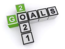2021 goals on white