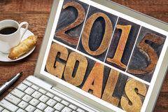 2015 goals in wood type Royalty Free Stock Images
