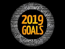 2019 Goals word cloud collage stock illustration