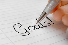 Goals word concept Stock Photography