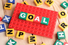 Goals word games, business concept Royalty Free Stock Photos