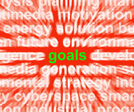 Goals Word Means Aims Targets And Aspirations. Goals Word Meaning Aims Targets And Aspirations Stock Photos