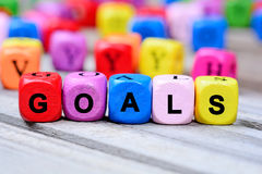 Goals word on table royalty free stock photography