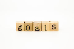 Goals wording, project and business concept Stock Photos