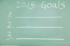 2015 Goals Stock Image