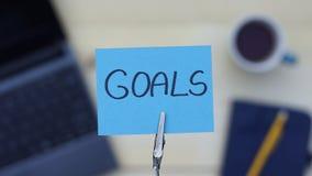 Goals written Royalty Free Stock Photo