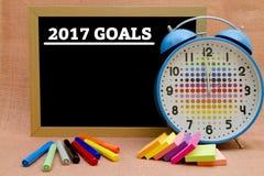 2017 Goals. Written on a small blackboard Royalty Free Stock Photos