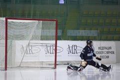 Goaltender Denis Ryisev Royalty Free Stock Image
