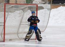 Goaltender of Dynamo Akhmerov Anton Royalty Free Stock Photos