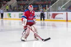 Goaltender Rastislav Stania Royalty Free Stock Photography