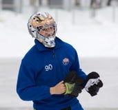 Goaltender of Zorkij team Gutarenko Denis Stock Photos
