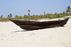 Goan Fishermans boat and tackle Royalty Free Stock Images