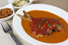 Goan Pomfret Curry or Goan fish curry Royalty Free Stock Photo
