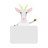 Goat with banner Royalty Free Stock Photo