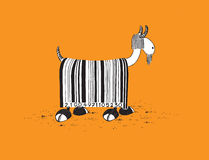 Goat with Barcode Hair Royalty Free Stock Image