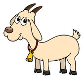 A goat with a bell Stock Photography