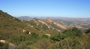 Goat Buttes Panorama. View of the Goat Buttes, Malibu Creek State Park, California Stock Photography