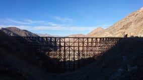 Goat Canyon Trestle. Abandoned Carrizo Gorge Railway, near Jacumba, California Royalty Free Stock Photo