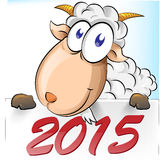 Goat cartoon. With 2015 background Royalty Free Illustration