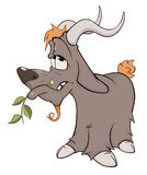 Goat. Cartoon Stock Image