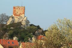 Goat castle ruins in Mikulov Royalty Free Stock Image