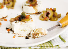 Goat Cheese Appetizer Royalty Free Stock Images