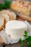 Goat Cheese with Bread Royalty Free Stock Photos