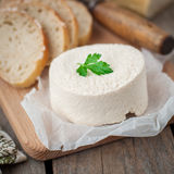 Goat Cheese with Bread Royalty Free Stock Photography