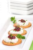 Goat cheese canapes Royalty Free Stock Image