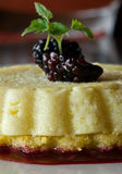Goat cheese cheesecake Royalty Free Stock Photos