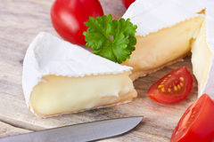 Goat cheese, cherry tomato, and parsley Stock Images
