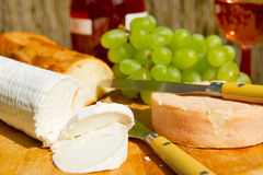 Goat cheese and fruit Stock Photo