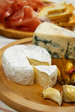 Goat cheese with garlic Stock Images