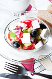 Goat cheese with mediterranean salad close up Stock Photo
