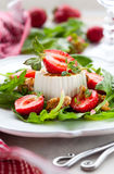 Goat Cheese and Strawberry Stock Photo