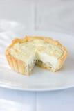 Goat cheese tart Royalty Free Stock Photos