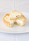 Goat cheese tart Royalty Free Stock Image